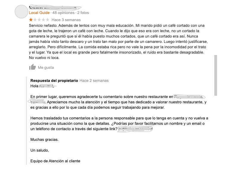 Qué hacer cuando un cliente te deja comentarios negativos